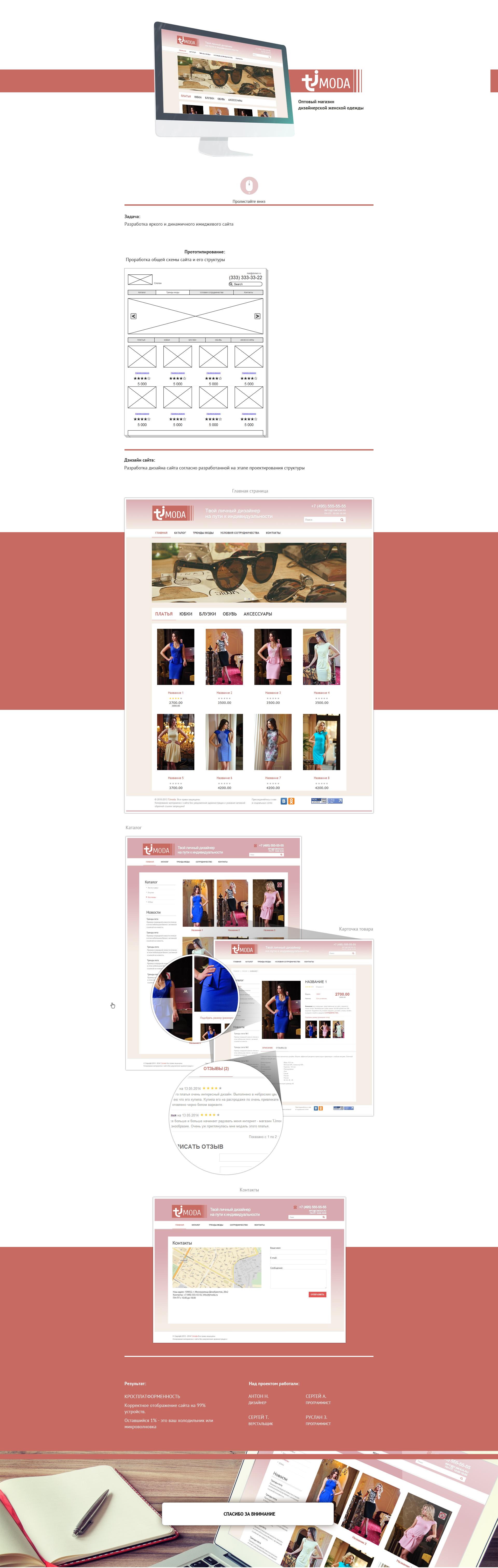 Дизайнерская одежда Tjmoda
